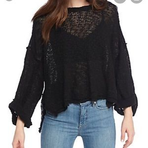 NEW NWT Free People Hacci Top Black